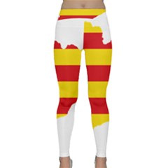 Flag Map Of Catalonia Yoga Leggings
