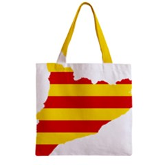 Flag Map Of Catalonia Zipper Grocery Tote Bag
