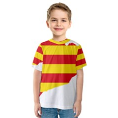 Flag Map Of Catalonia Kid s Sport Mesh Tee