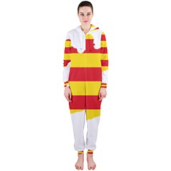Flag Map Of Catalonia Hooded Jumpsuit (Ladies)