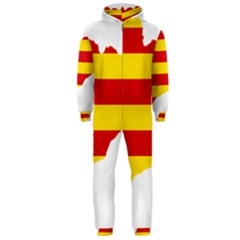 Flag Map Of Catalonia Hooded Jumpsuit (Men)