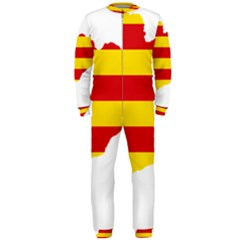 Flag Map Of Catalonia OnePiece Jumpsuit (Men)