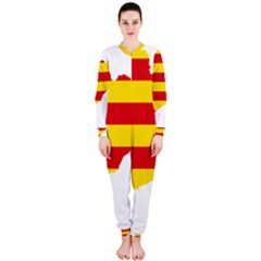 Flag Map Of Catalonia OnePiece Jumpsuit (Ladies)