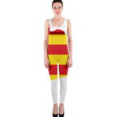 Flag Map Of Catalonia OnePiece Catsuit
