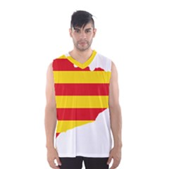 Flag Map Of Catalonia Men s Basketball Tank Top