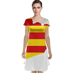 Flag Map Of Catalonia Cap Sleeve Nightdress