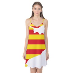 Flag Map Of Catalonia Camis Nightgown