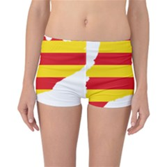 Flag Map Of Catalonia Reversible Boyleg Bikini Bottoms