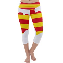 Flag Map Of Catalonia Capri Yoga Leggings