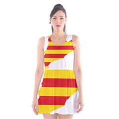 Flag Map Of Catalonia Scoop Neck Skater Dress