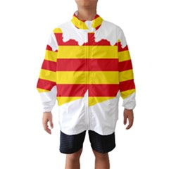 Flag Map Of Catalonia Wind Breaker (Kids)