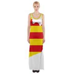 Flag Map Of Catalonia Maxi Thigh Split Dress