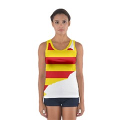 Flag Map Of Catalonia Women s Sport Tank Top
