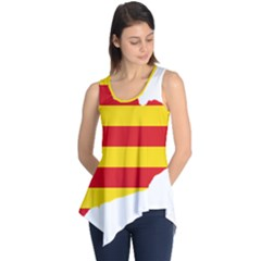 Flag Map Of Catalonia Sleeveless Tunic