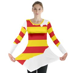Flag Map Of Catalonia Long Sleeve Tunic