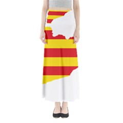Flag Map Of Catalonia Maxi Skirts