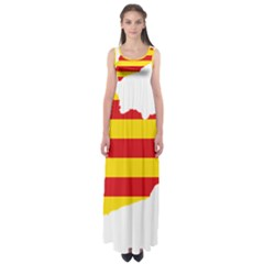 Flag Map Of Catalonia Empire Waist Maxi Dress