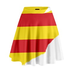 Flag Map Of Catalonia High Waist Skirt