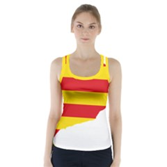 Flag Map Of Catalonia Racer Back Sports Top