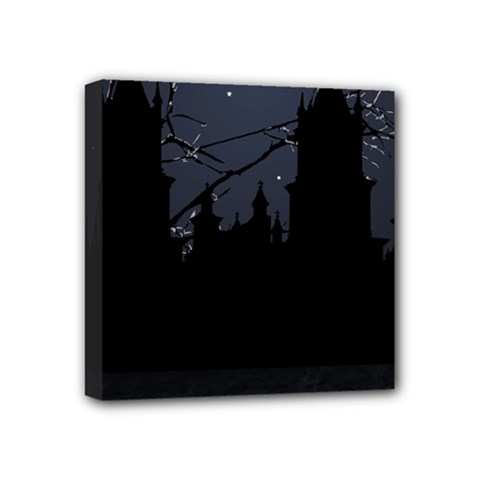 Dark Scene Illustration Mini Canvas 4  x 4