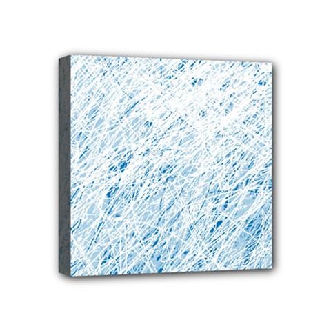 Blue pattern Mini Canvas 4  x 4