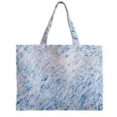 Blue pattern Zipper Mini Tote Bag