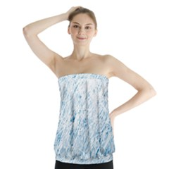 Blue pattern Strapless Top