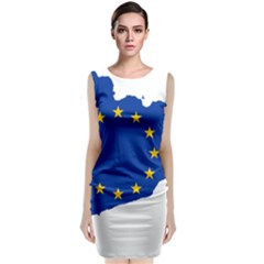 Catalonia European Union Flag Map  Classic Sleeveless Midi Dress