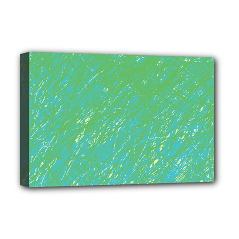 Green pattern Deluxe Canvas 18  x 12