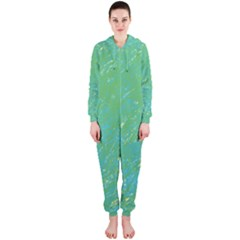 Green pattern Hooded Jumpsuit (Ladies)