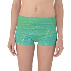 Green pattern Boyleg Bikini Bottoms