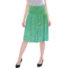 Green pattern Midi Beach Skirt