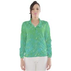 Green pattern Wind Breaker (Women)