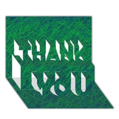 Deep green pattern THANK YOU 3D Greeting Card (7x5)