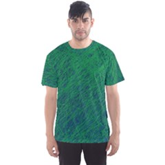 Deep green pattern Men s Sport Mesh Tee