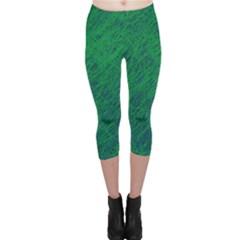 Deep green pattern Capri Leggings