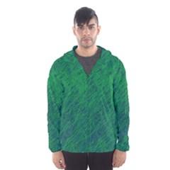 Deep green pattern Hooded Wind Breaker (Men)