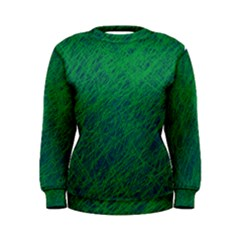 Deep green pattern Women s Sweatshirt