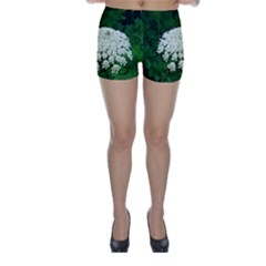 Beetle And Flower Skinny Shorts