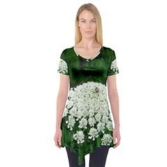 Beetle And Flower Short Sleeve Tunic