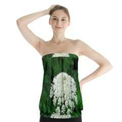 Beetle And Flower Strapless Top