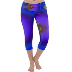 Into The Blue Fractal Capri Yoga Leggings