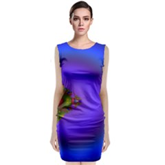 Into The Blue Fractal Classic Sleeveless Midi Dress