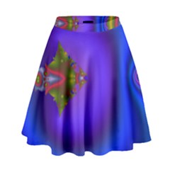 Into The Blue Fractal High Waist Skirt
