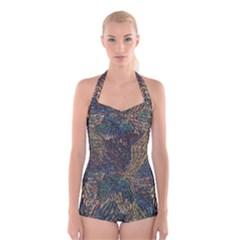 SDA1517 Boyleg Halter Swimsuit