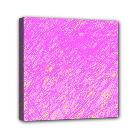 Pink pattern Mini Canvas 6  x 6