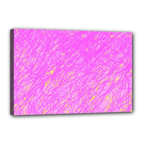 Pink pattern Canvas 18  x 12