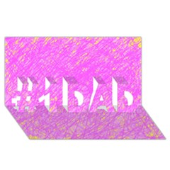 Pink pattern #1 DAD 3D Greeting Card (8x4)