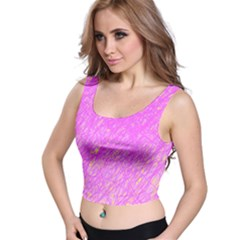 Pink pattern Crop Top