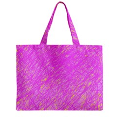 Pink pattern Zipper Mini Tote Bag